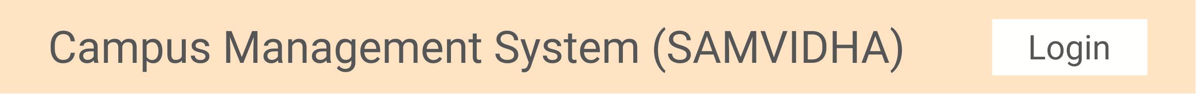 Samvidha - Campus Management System